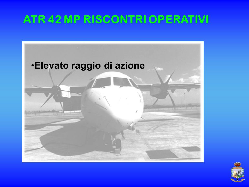 ATR 42 MP RISCONTRI OPERATIVI