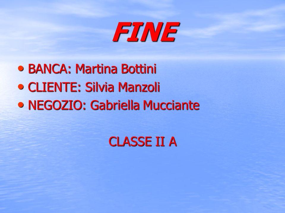 FINE BANCA: Martina Bottini CLIENTE: Silvia Manzoli