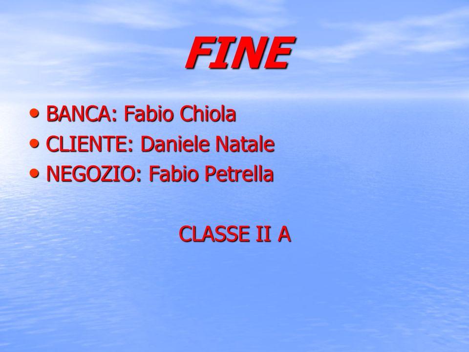 FINE BANCA: Fabio Chiola CLIENTE: Daniele Natale