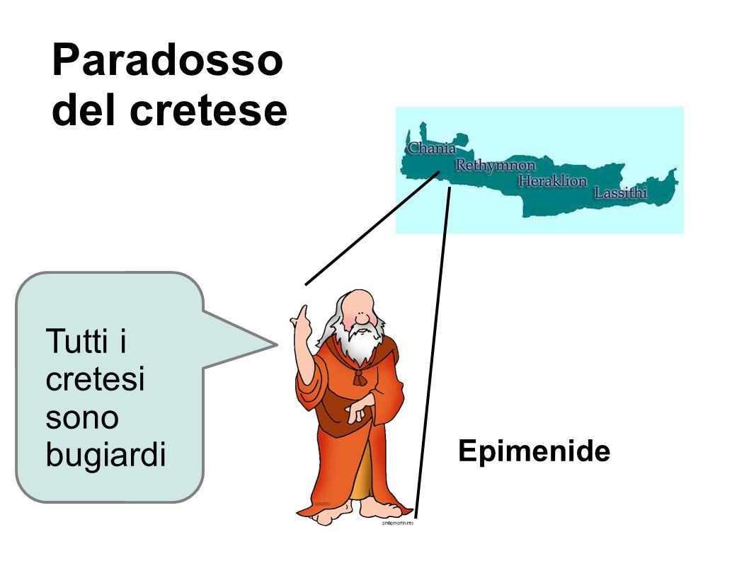 Paradosso del cretese Tutti i cretesi sono bugiardi Epimenide