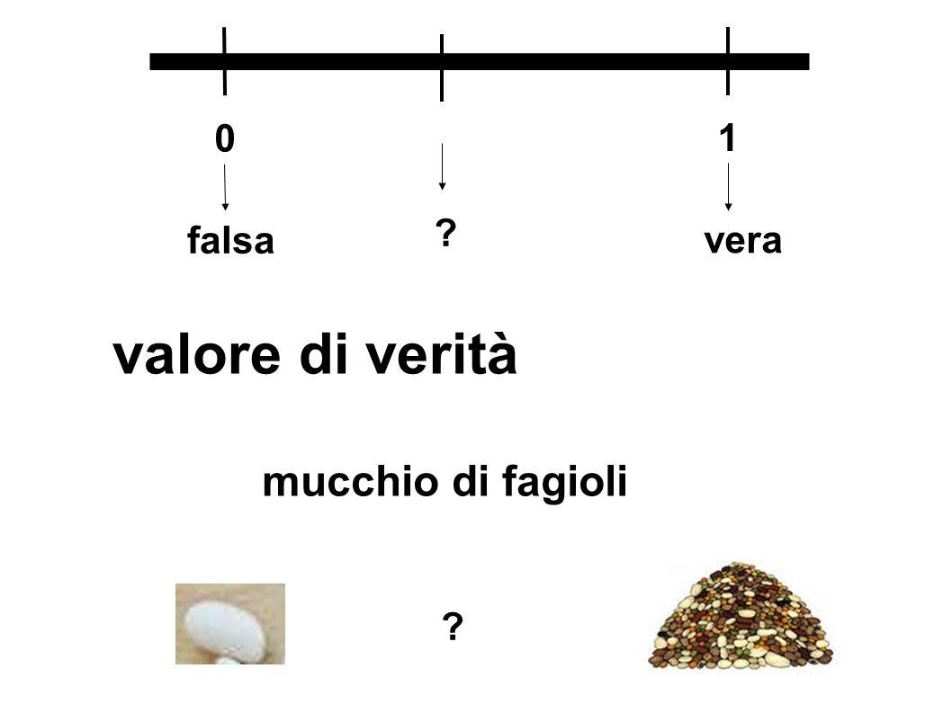 1 falsa vera valore di verità mucchio di fagioli
