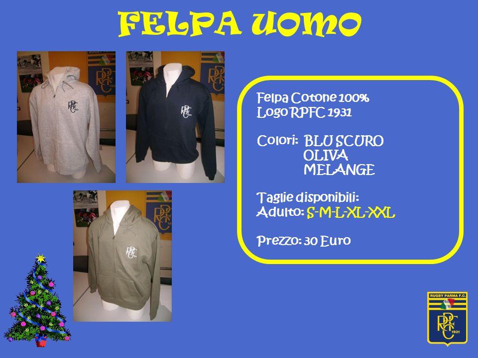 FELPA UOMO Felpa Cotone 100% Logo RPFC 1931 Colori: BLU SCURO OLIVA