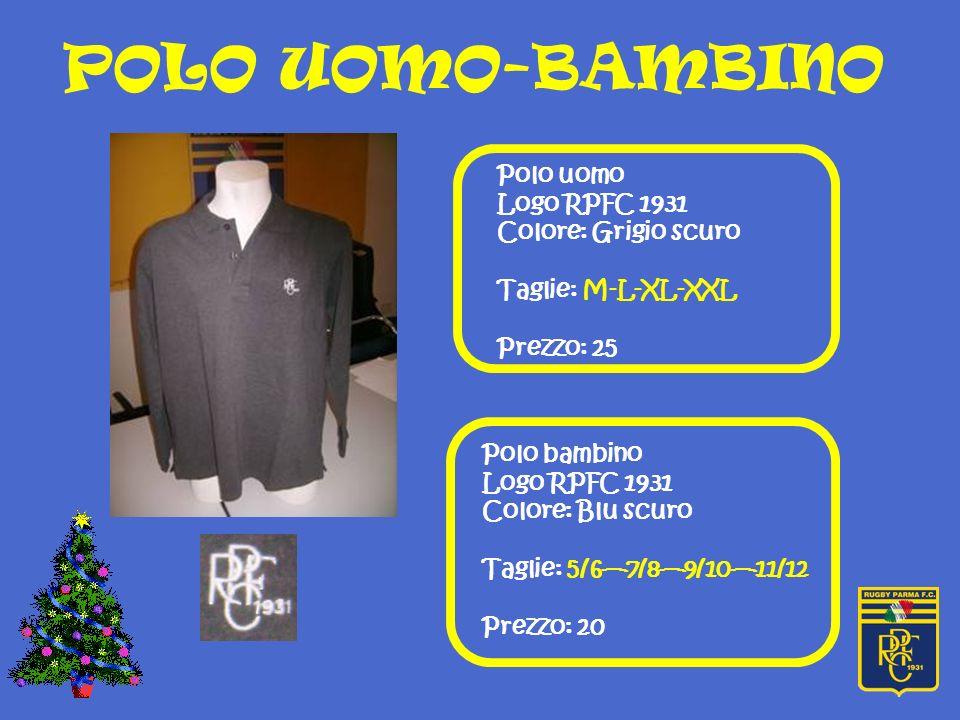 POLO UOMO-BAMBINO Polo uomo Logo RPFC 1931 Colore: Grigio scuro
