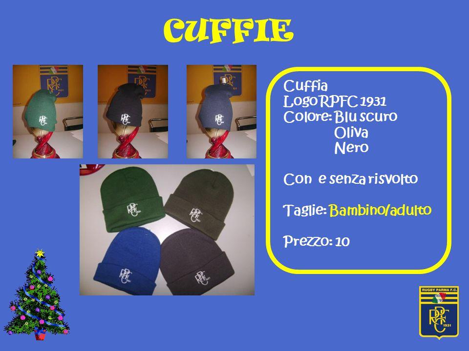 CUFFIE Cuffia Logo RPFC 1931 Colore: Blu scuro Oliva Nero