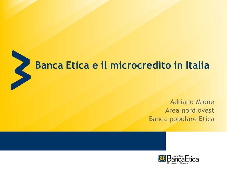 Banca Etica e il microcredito in Italia
