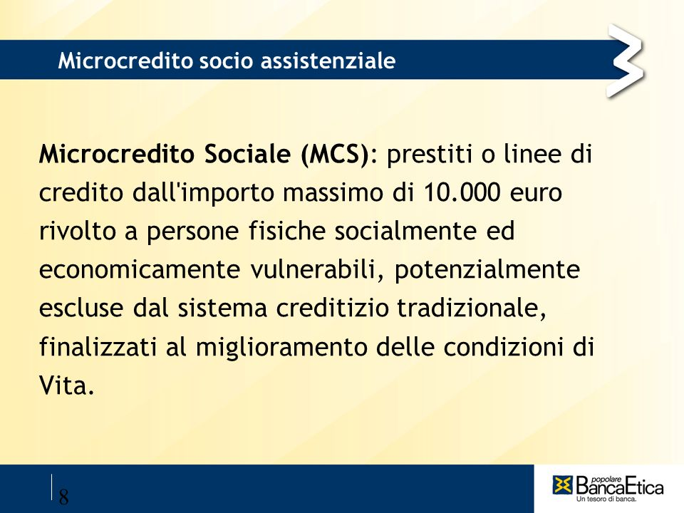 Microcredito socio assistenziale
