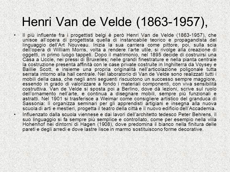Henri Van de Velde (1863-1957),