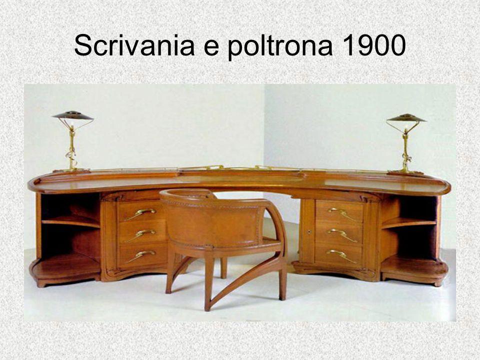 Scrivania e poltrona 1900