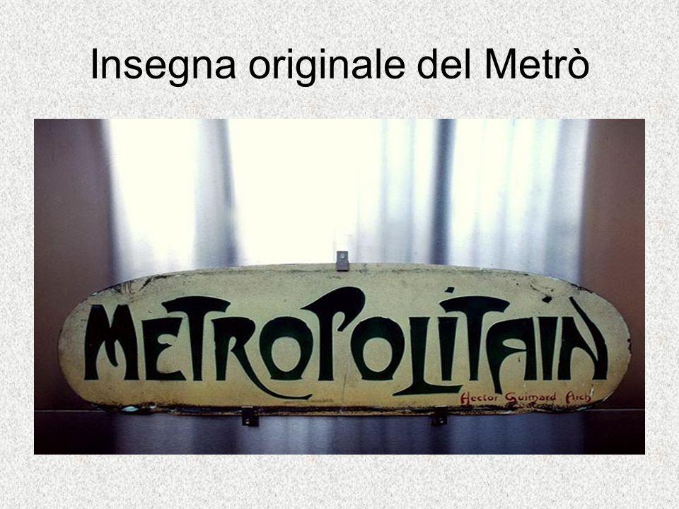 Insegna originale del Metrò