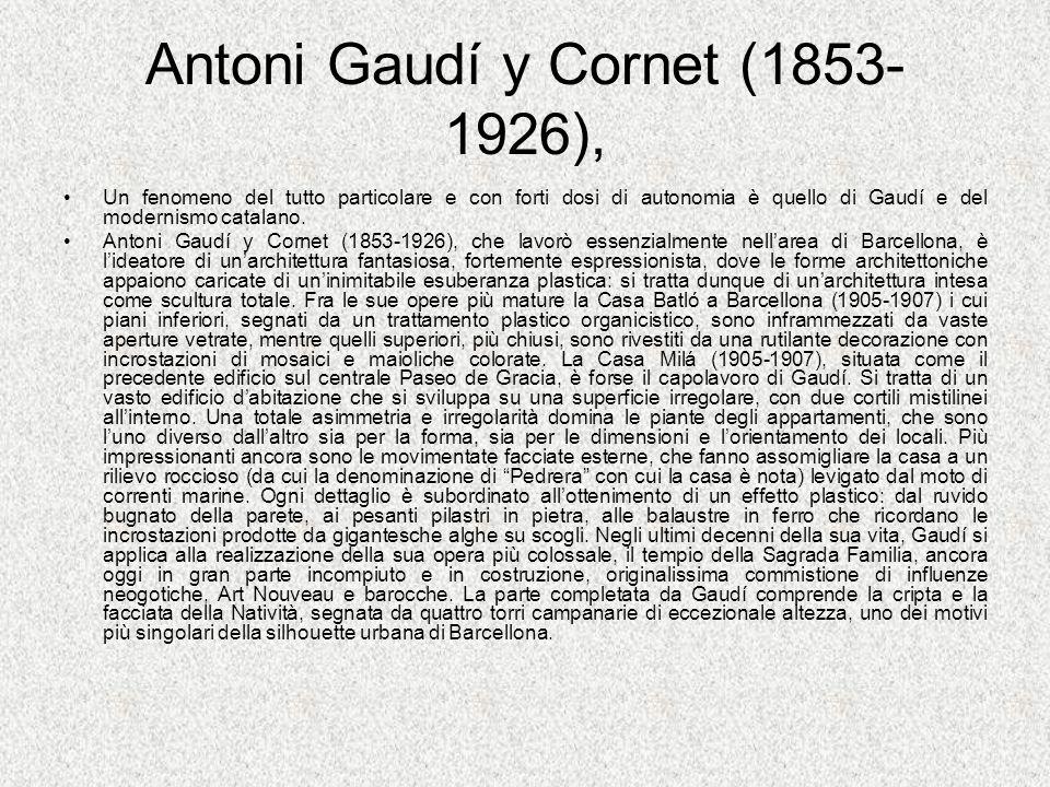 Antoni Gaudí y Cornet (1853-1926),
