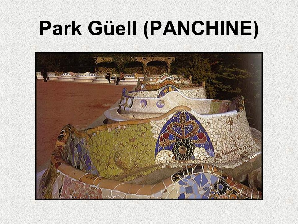 Park Güell (PANCHINE)