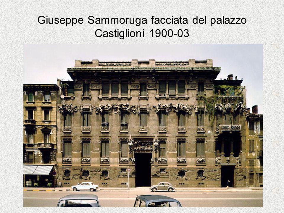 Giuseppe Sammoruga facciata del palazzo Castiglioni 1900-03