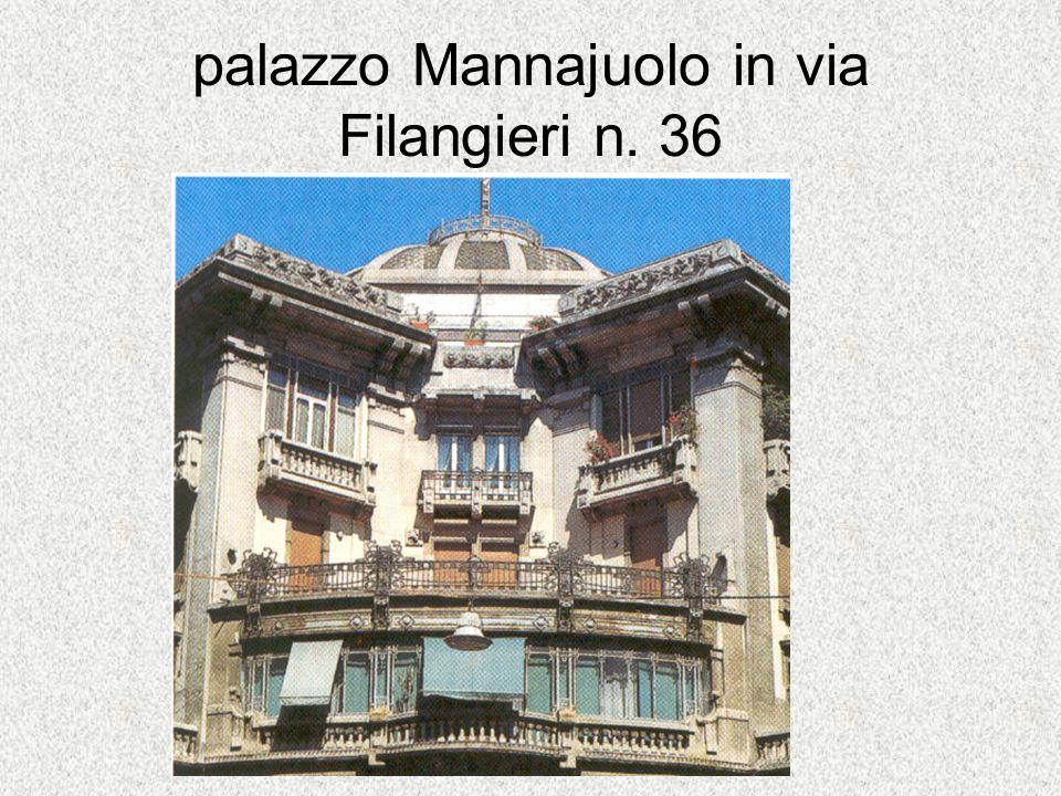palazzo Mannajuolo in via Filangieri n. 36