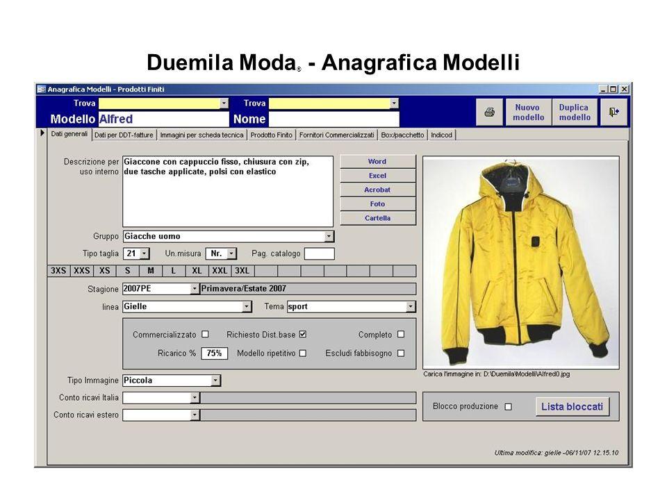 Duemila Moda® - Anagrafica Modelli