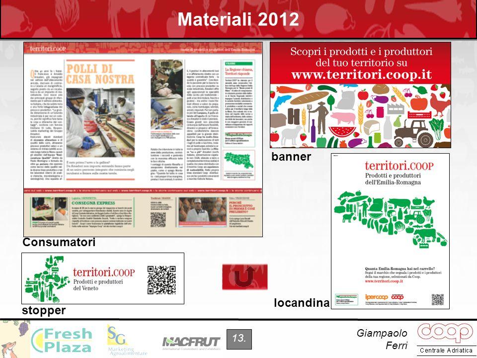 Materiali 2012 banner Consumatori locandina stopper Giampaolo Ferri
