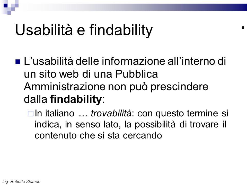 Usabilità e findability