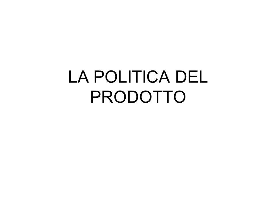 LA POLITICA DEL PRODOTTO