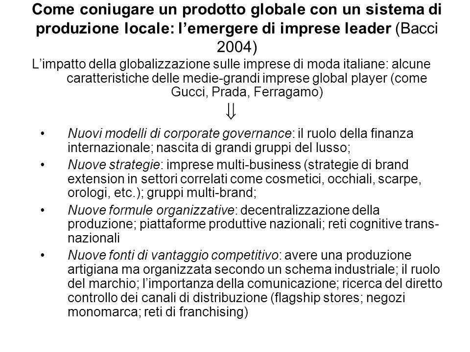 Come coniugare un prodotto globale con un sistema di produzione locale: l'emergere di imprese leader (Bacci 2004)