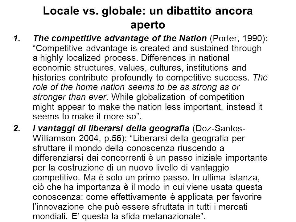 Locale vs. globale: un dibattito ancora aperto