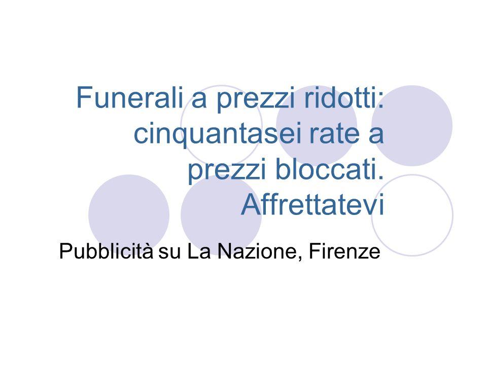 Pubblicità su La Nazione, Firenze