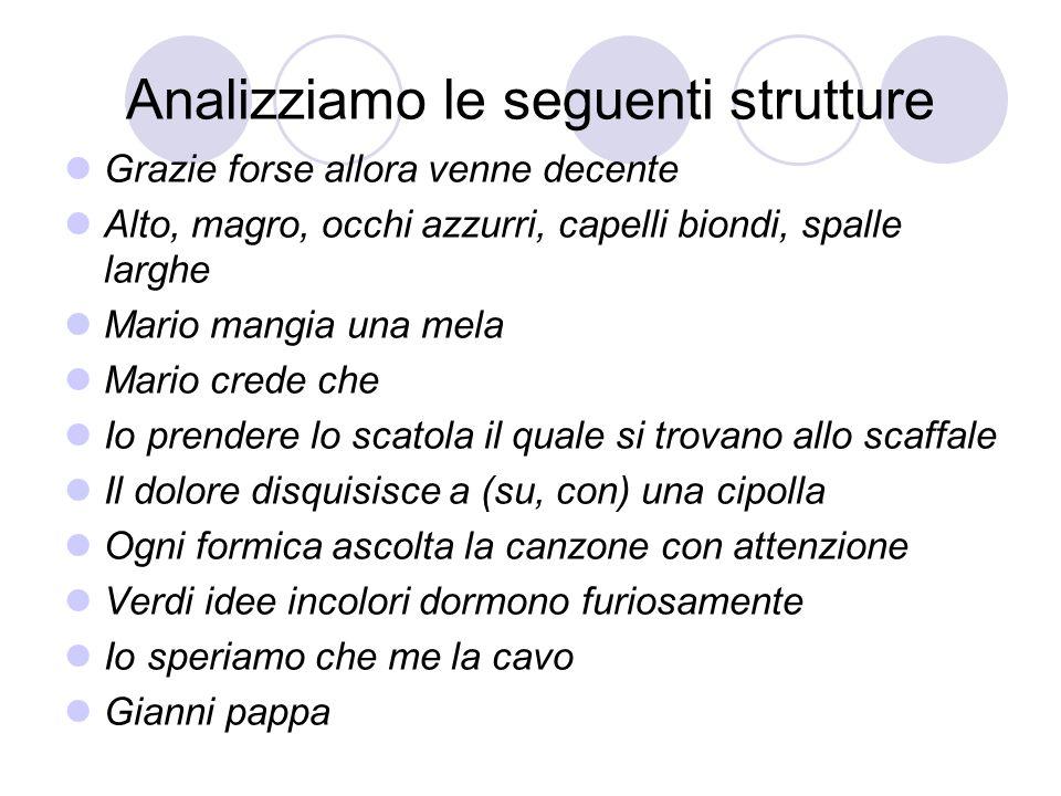 Analizziamo le seguenti strutture