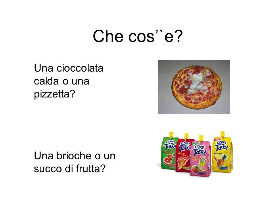 Che cos'`e Una cioccolata calda o una pizzetta