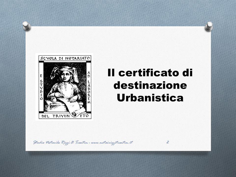 Il certificato di destinazione Urbanistica