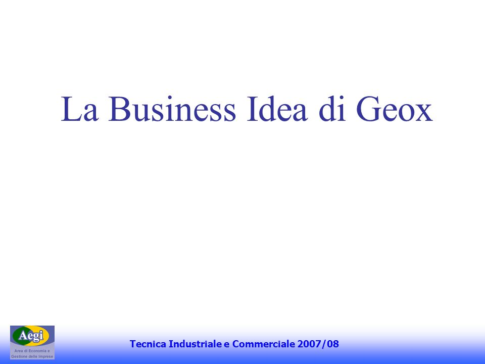 La Business Idea di Geox