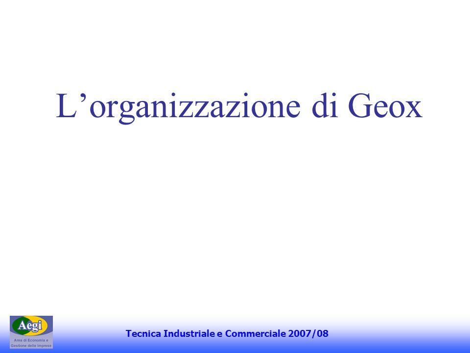 L'organizzazione di Geox