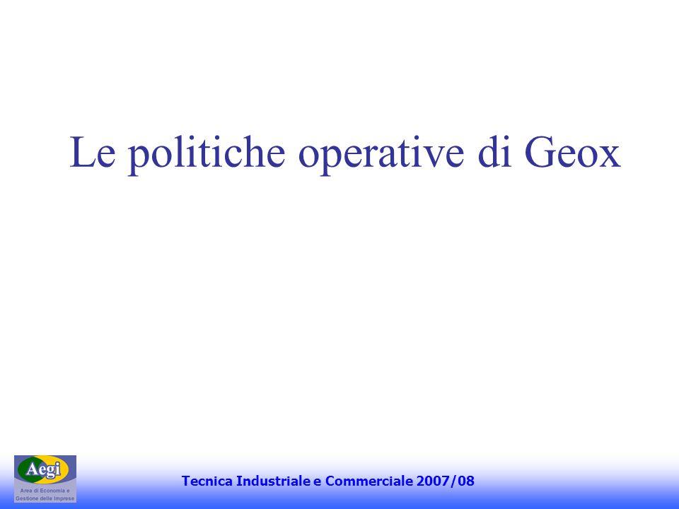 Le politiche operative di Geox