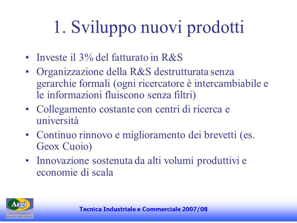 1. Sviluppo nuovi prodotti