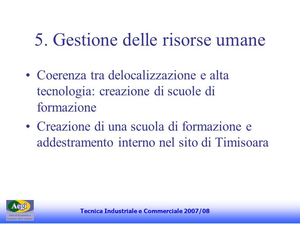 5. Gestione delle risorse umane