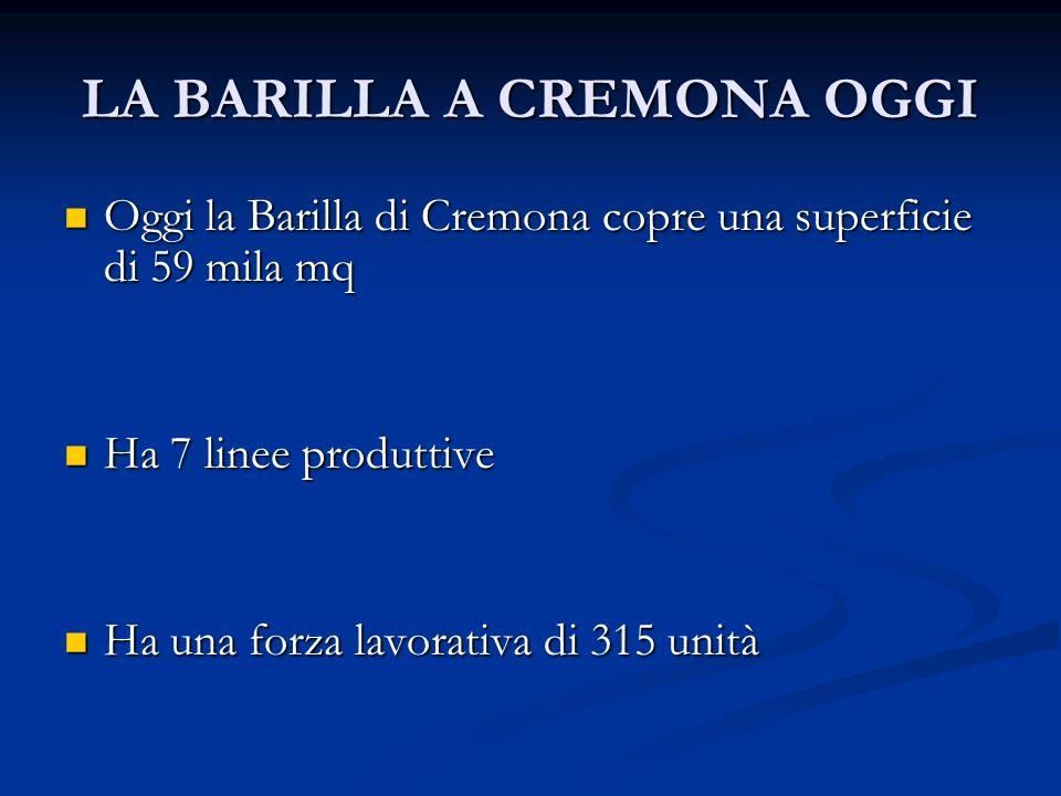 LA BARILLA A CREMONA OGGI