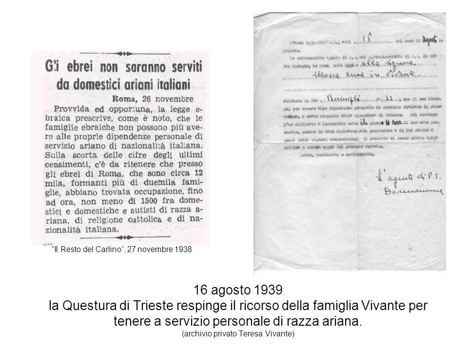 Il Resto del Carlino , 27 novembre 1938