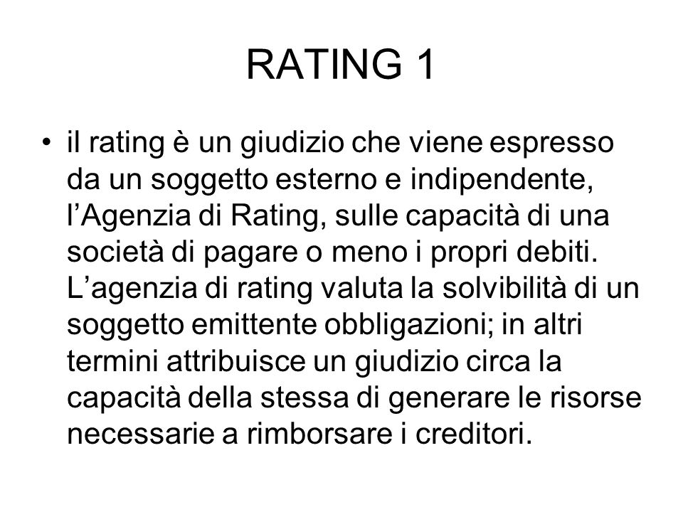 RATING 1