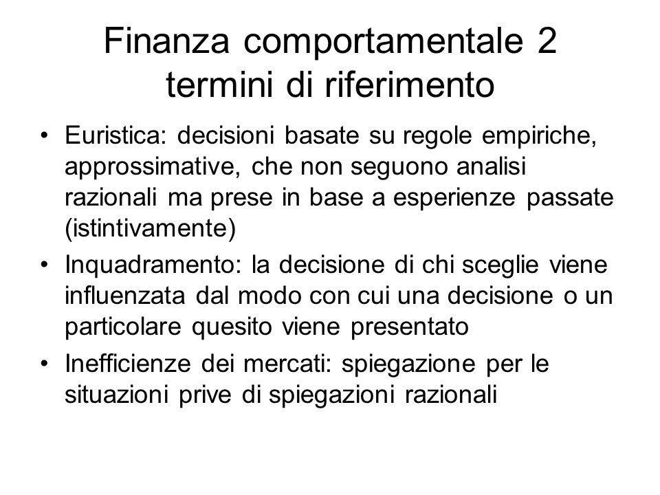 Finanza comportamentale 2 termini di riferimento