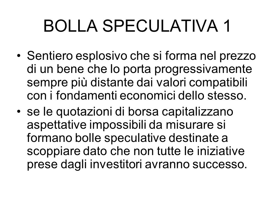 BOLLA SPECULATIVA 1