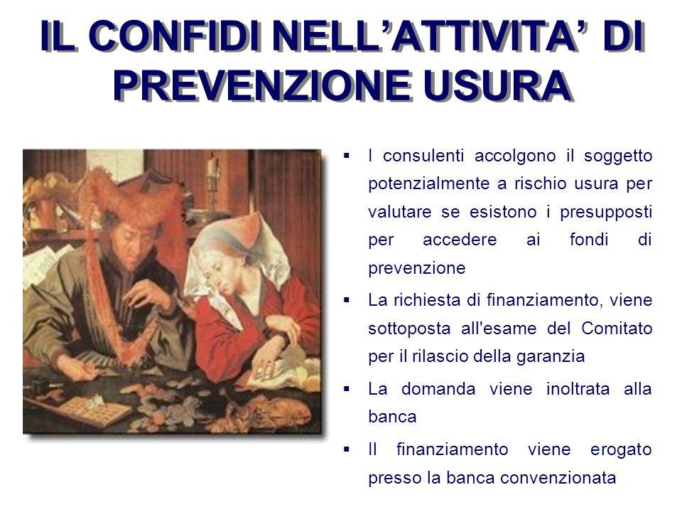 IL CONFIDI NELL'ATTIVITA' DI PREVENZIONE USURA