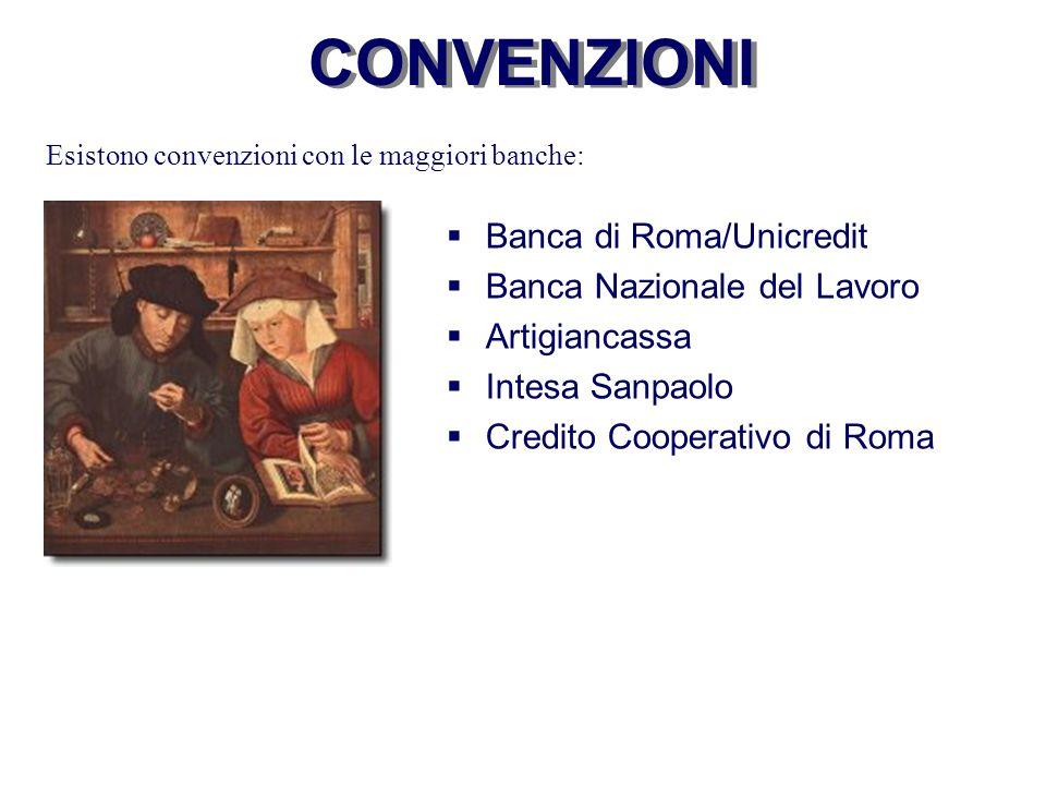CONVENZIONI Banca di Roma/Unicredit Banca Nazionale del Lavoro