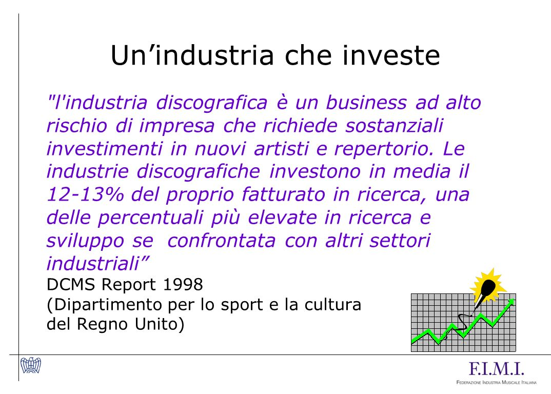 Un'industria che investe