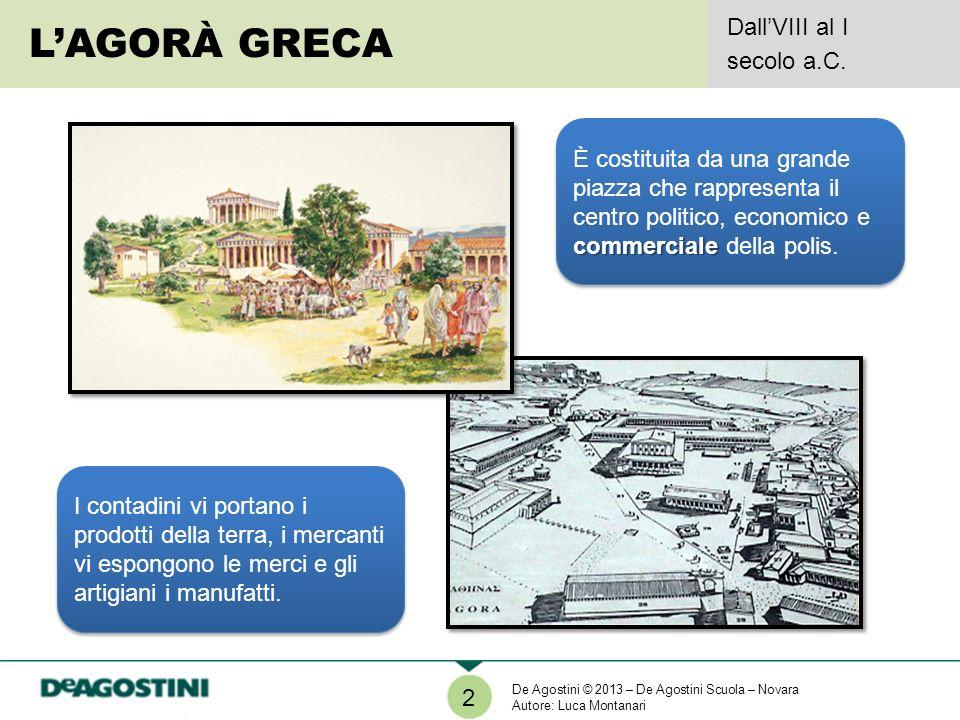 L'AGORÀ GRECA Dall'VIII al I secolo a.C.