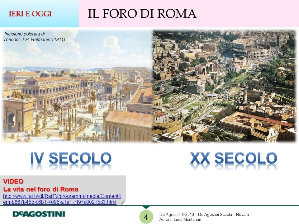 IV SECOLO XX SECOLO IL FORO DI ROMA IERI E OGGI 4 VIDEO