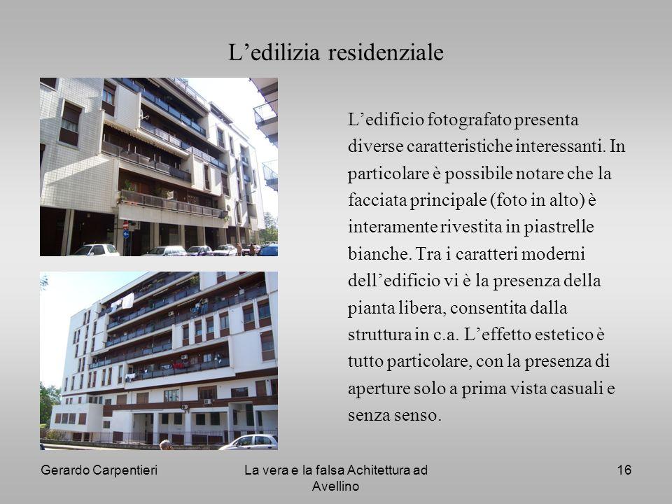 L'edilizia residenziale