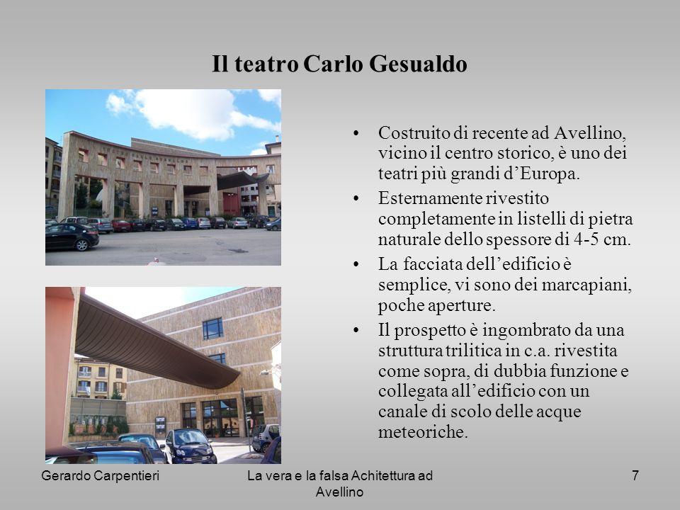 Il teatro Carlo Gesualdo