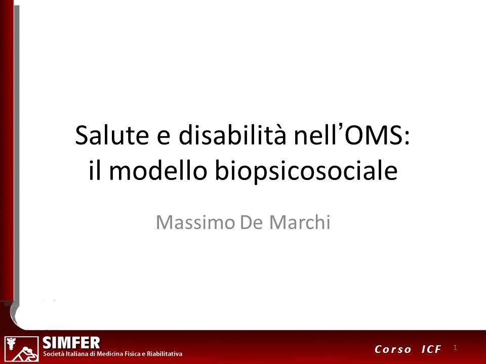 Salute e disabilità nell'OMS: il modello biopsicosociale