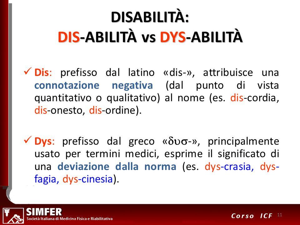 DISABILITÀ: DIS-ABILITÀ vs DYS-ABILITÀ