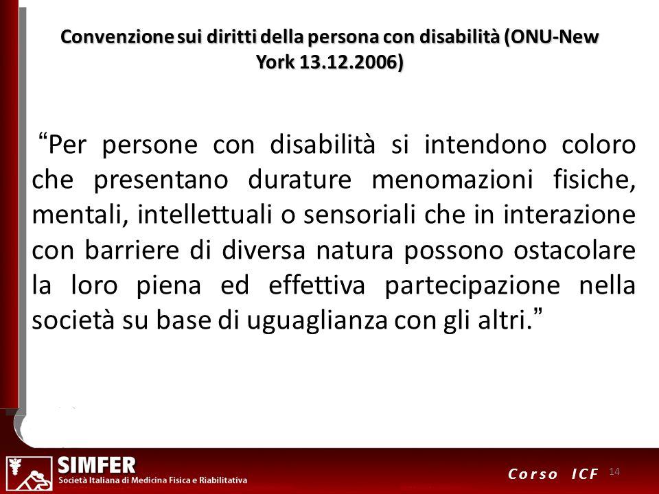 Convenzione sui diritti della persona con disabilità (ONU-New York 13