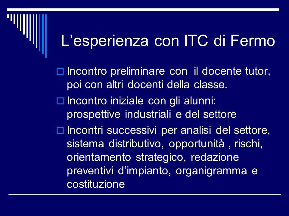 L'esperienza con ITC di Fermo