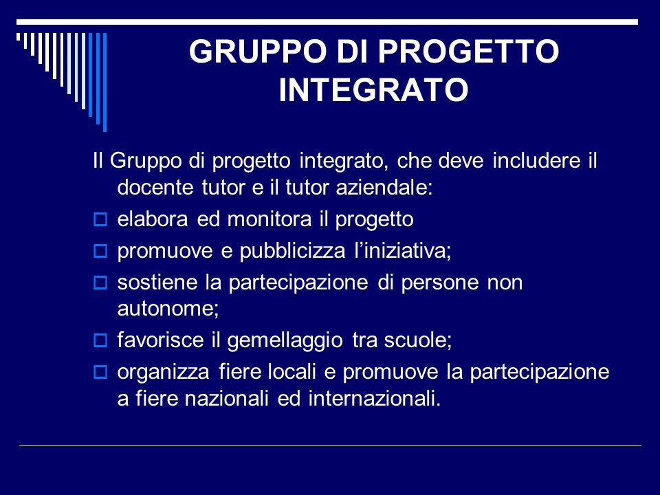 GRUPPO DI PROGETTO INTEGRATO