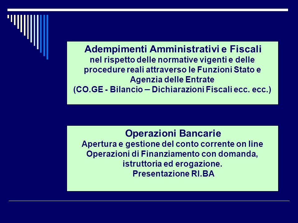 (CO.GE - Bilancio – Dichiarazioni Fiscali ecc. ecc.)